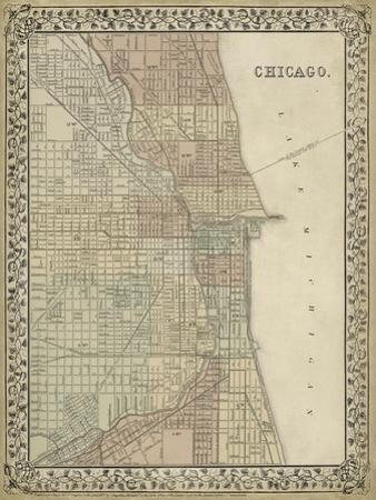 Plan of Chicago by Mitchell