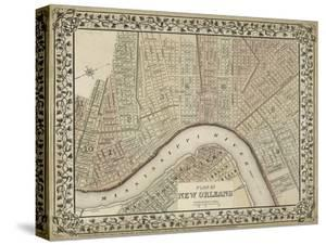 Plan of New Orleans by Mitchell