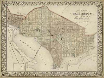 Plan of Washington, D.C. by Mitchell