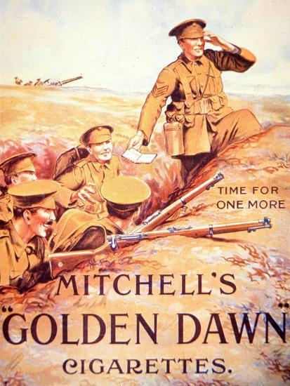 Mitchell's Golden Dawn Cigarettes', 1914-18--Giclee Print