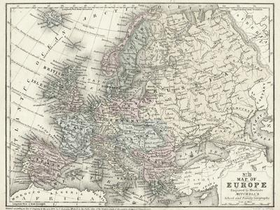 Mitchell's Map of Europe--Art Print