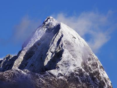 Mitre Peak on New Zealand's South Island-Frank Krahmer-Photographic Print
