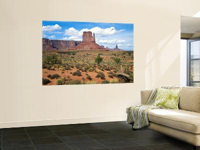 Mitten and Buttes at Mid-Day Navajo Tribal Park, Monument Valley, Arizona, USA-Bernard Friel-Giant Art Print