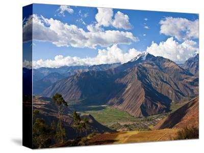 A View of the Sacred Valley and Andes Mountains of Peru, South America