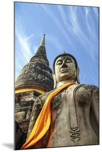 Ayutthaya, Thailand. Large Buddha at Wat Phra Mahathat, Ayutthaya Historical Park, near Bangkok by Miva Stock