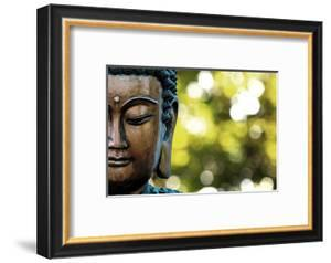 Bangkok, Thailand. Depiction of head and face of Buddha outdoor statue by Miva Stock