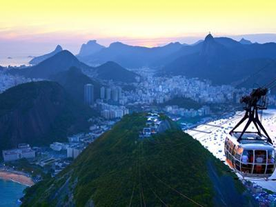 Cable Car to Sugar Loaf Mountain, Rio De Janiero, Brazil