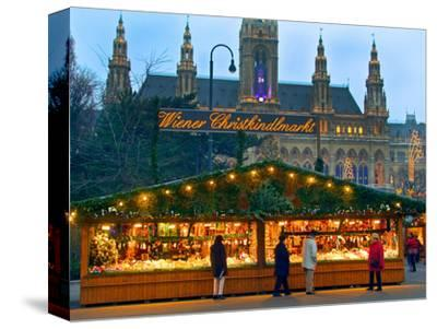 Christmas Market on the Town Hall Square, Vienna, Austria