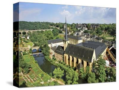 City View of St. Johanneskirche and Abbey Neumuenster, Grund, Luxemburg, Luxembourg