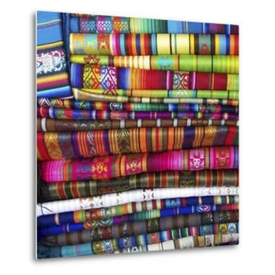 Colorful Blankets at Indigenous Market in Pisac, Peru