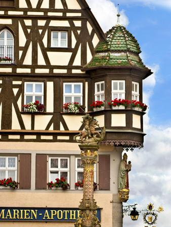 Cross Timbered Houses, Rothenburg Ob Der Tauber, Germany