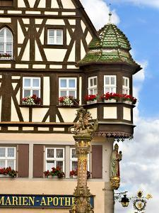 Cross Timbered Houses, Rothenburg Ob Der Tauber, Germany by Miva Stock