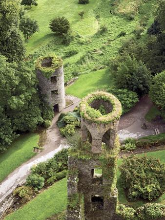 High Angle View of Towers, Blarney Castle, County Cork, Ireland by Miva Stock