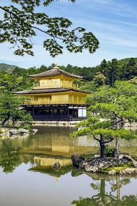 Kyoto, Japan. Kinkaku-Ji, Temple of the Golden Pavilion, also known as Rokuon-Ji by Miva Stock