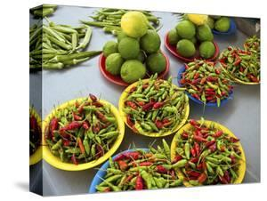 Peppers, Fruit and Vegetable Outdoor Market, Suva, Fiji by Miva Stock