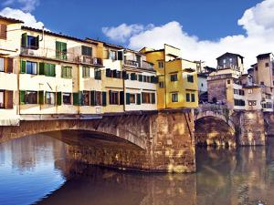 Ponte Vecchio and Arno River, Florence, Tuscany, Italy by Miva Stock