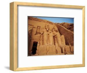 Statues, the Greater Temple, Abu Simbel, Egypt by Miva Stock