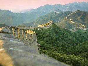 Sunrise over the Mutianyu Section of the Great Wall, Huairou County, China by Miva Stock