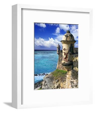 Watchtower, Fort San Felipe Del Morro, San Juan, Puerto Rico, USA, Caribbean