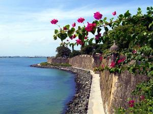 Waterfront Walkway, Fort San Felipe Del Morro, San Juan, Puerto Rico, USA, Caribbean by Miva Stock