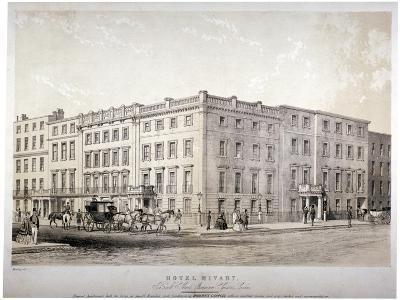 Mivart's Hotel, Brook Street, Near Grosvenor Square, Westminster, London, C1850-GE Madeley-Giclee Print