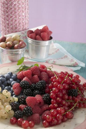 Mixed Berries on a Plate-Foodcollection-Photographic Print