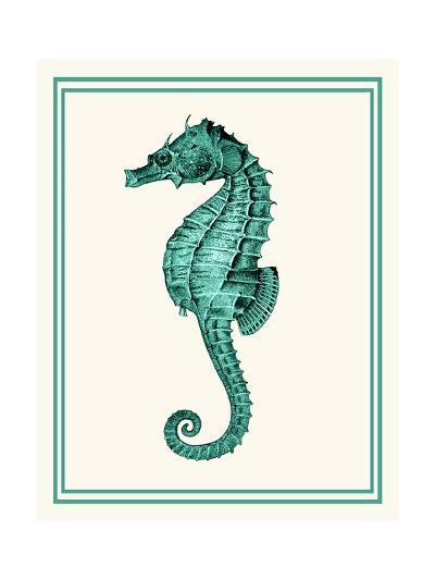 Mixed Nautical Green on Cream e-Fab Funky-Art Print