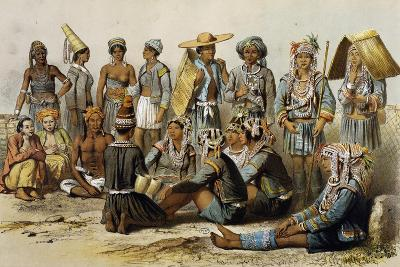 Mixed Populations from Kingdoms of Xieng Tong and Xieng Hong--Giclee Print