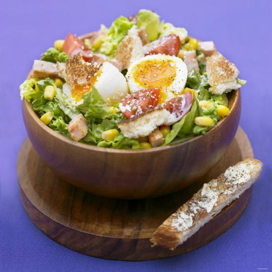 Mixed Salad with Chicken Breast and Egg-Bernard Radvaner-Photographic Print