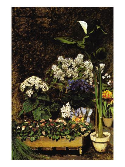 Mixed Spring Flowers-Pierre-Auguste Renoir-Art Print