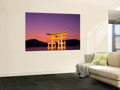 Miyajima Island, Itsukushima Shrine, Torii Gate, Night View, Honshu, Japan-Steve Vidler-Wall Mural