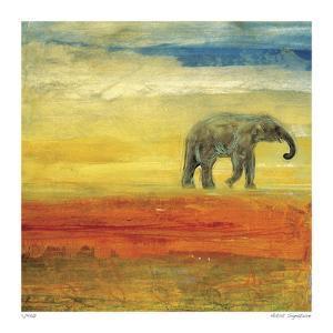 Elephant Stroll by Mj Lew