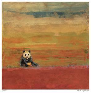 Sitting Panda by Mj Lew