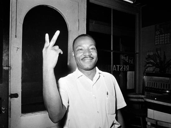 MLK St Augustine Boycott 1964--Photographic Print