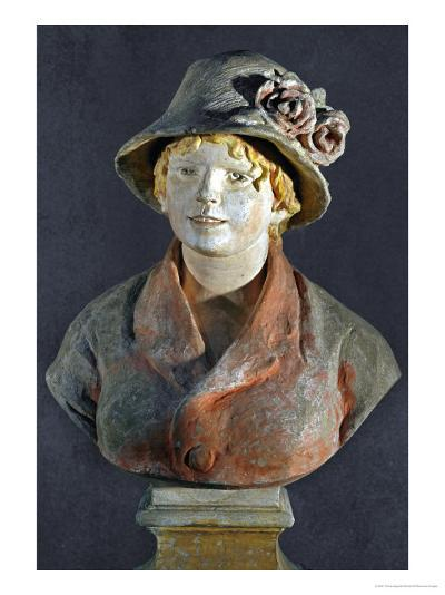 Mme. Aline Renoir, Polychrome Terracotta, in Cooperation with Richard Guino-Pierre-Auguste Renoir-Giclee Print