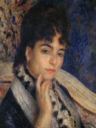 Mme. Alphonse Daudet, Nee Julie Allard, (1844-1940), Wife of the Poet, 1876-Pierre-Auguste Renoir-Giclee Print