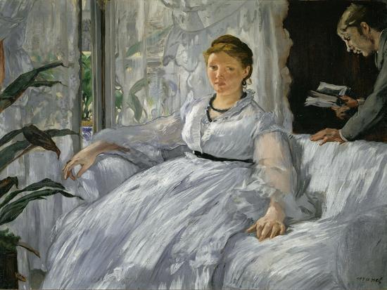 Mme. Edouard Manet (1830-1906) and Her Son, Leon Koella-Leenhoff (1852-1927)-Edouard Manet-Giclee Print