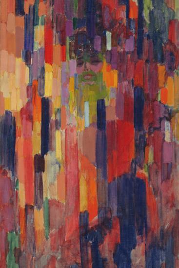 Mme Kupka among Verticals-Frantisek Kupka-Giclee Print