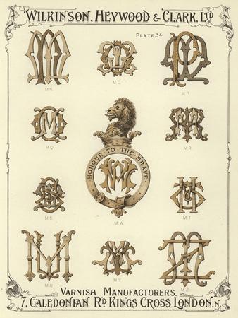 MN, MO, MP, MQ, MW, MR, MS, MT, MU, MY, MZ Giclee Print