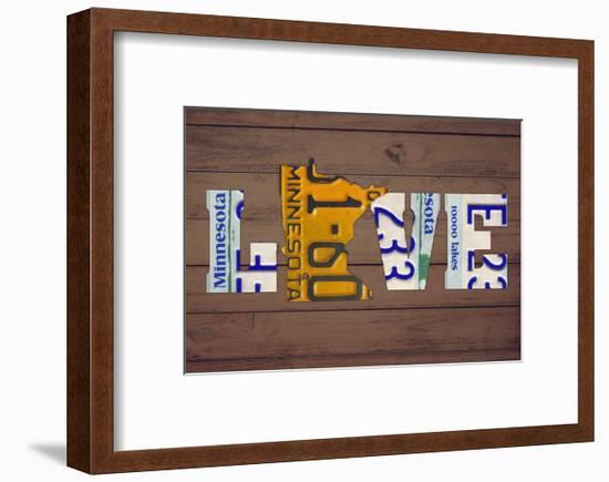 MN State Love-Design Turnpike-Framed Giclee Print