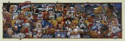 Mo' Mutts Sports Bar-Bill Bell-Giclee Print