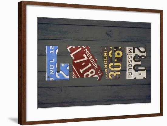 MO State Love-Design Turnpike-Framed Giclee Print