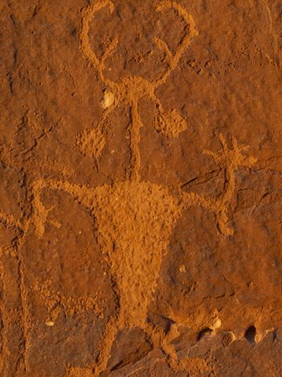 Moab Man Rock Art from the Formative Period (Ad 1-1275)-Rich Reid-Photographic Print
