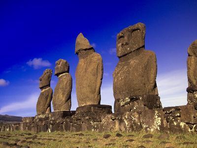 Moai at Ahu Tahai, Easter Island, Chile-Angelo Cavalli-Photographic Print
