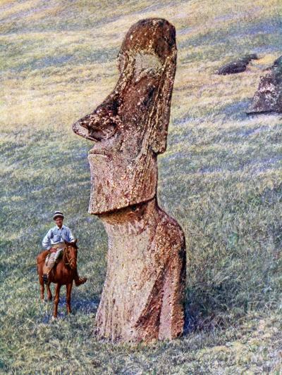 Moai Statues, Easter Island, Chile, 1933-1934--Giclee Print
