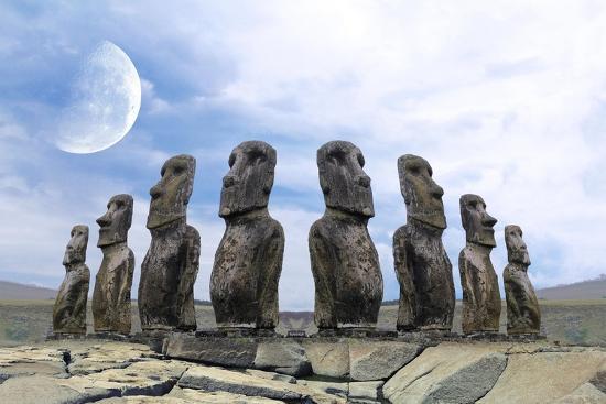 Moai-Ata Alishahi-Giclee Print