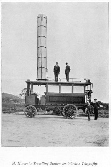 Mobile Radio Station Used by Marconi, 1900--Giclee Print