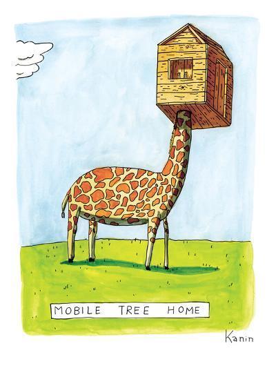 "(""Mobile Tree Home"") - New Yorker Cartoon-Zachary Kanin-Premium Giclee Print"