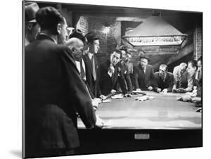 Mobsters Meeting around Pool Table