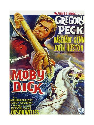 Moby Dick, Gregory Peck on French Poster Art, 1956--Giclee Print